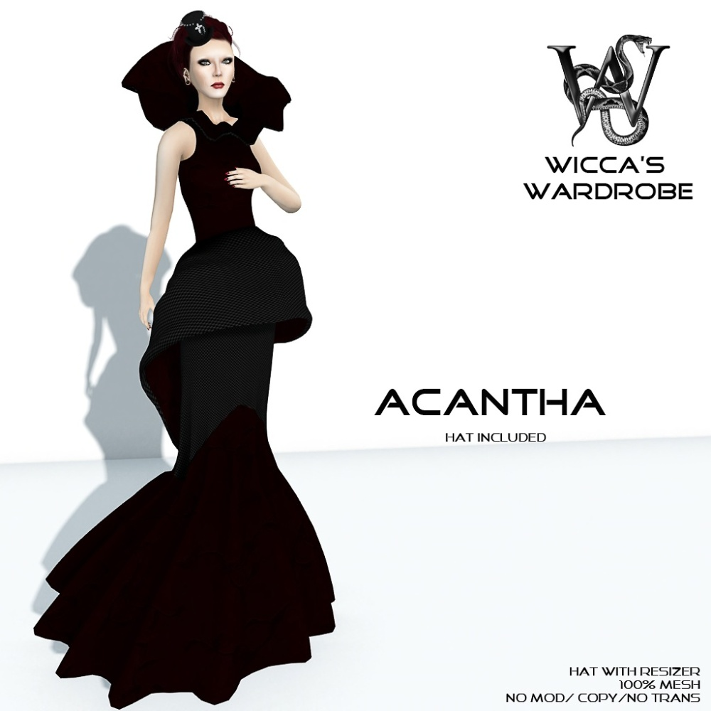 Wicca's Wardrobe - Acantha Gown Vendor