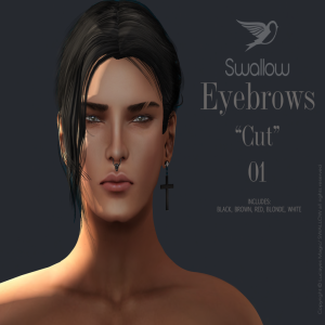 ^^Swallow Eyebrows ''Cut''01 (for Man)